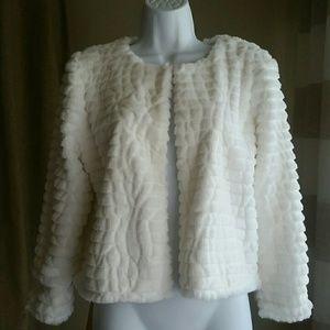 Calvin Klein faux fur jacket. Size M
